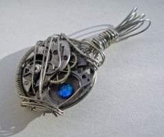 Wire Wrapped Steampunk Pendant by Sercive