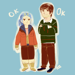 Clementine and Joel by nimbusnymbus