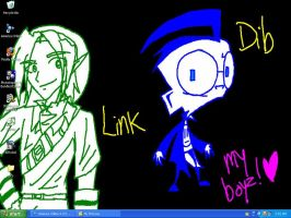My Link and Dib Desktop by Linkfan007