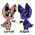 Sunrise And Eclipse Adopts (OPEN) by MartyMurray