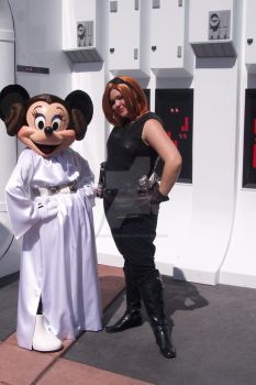Mara and Galactic Princess Minnie, SWW 2010 by StageDoorGraphix