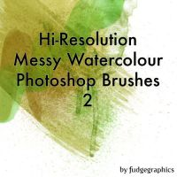 Hi-Res Messy Watercolours 2 by fudgegraphics