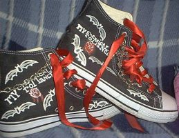 My Chemical Romance shoes 2 by Gothic-Wolf