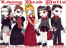 Living Dead Dolls Series Two by spookydarling