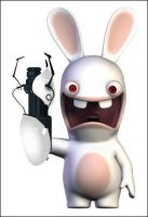 Rabbids with Portal Gun by coverop