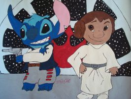 Stitch Solo and Princess Lilo by emily0410