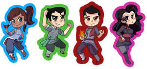 Korra Sticker Set by michielynn