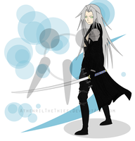 Commission for pixelchallenge: Sephiroth by AthenrilTheThief