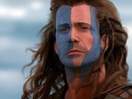 William Wallace / Mel Gibson by Anarki3000