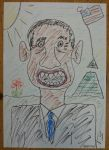 Barack Obama Oil Pastel Drawing by Mairou by Mairoutv