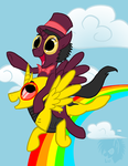 OVER THE RAIIINBOWWW by LunarUmbrage