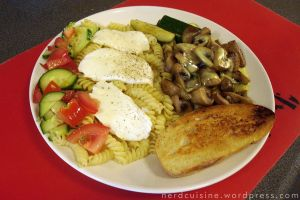 Veggies with Rotini, Mozzarella and Hollandaise by oskila