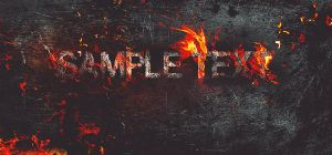 Fire Burning on Metal Text Effect in Photoshop by Designslots
