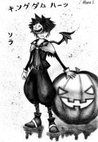 KH II  Halloween Sora by bamfan93