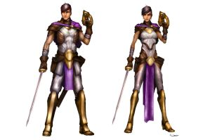 Ferus - protagonist male and female. by DarrenGeers