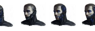reaper shepard head concepts by DeadlyNinja