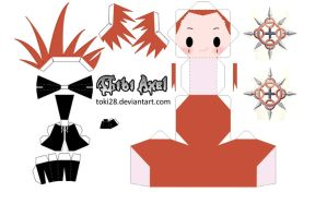 Chibi Axel Papercraft by toki28