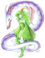 Rydia and Leviathan by medli