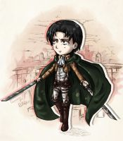 Levi chibi - specially for PoliMollyKari by Angelmewkaro