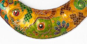 Lizard Necklace 2 (Close Up front) by nnjewellery
