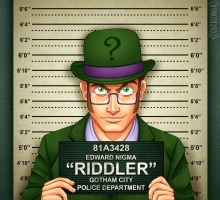 Gotham City Mugshots - Riddler by Costalonga