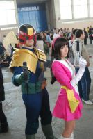 Judge Dredd and Sayaka Yumi by IanCholo