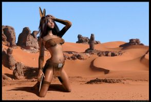 Indian Maiden in Desert - 001 by hidden-joker