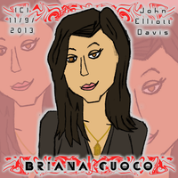 Briana Cuoco Drawing by LittleGreenGamer