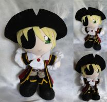 Commission, Plushie Pirate Arthur Kirkland by ThePlushieLady