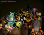 mike and sulley day ofthe dead by pandapaco