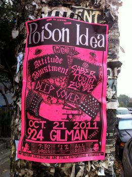 Poison Idea at 924 Gilman 2011 by strainedeyegraphics