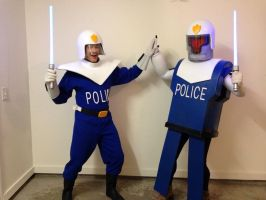 Futurama: Officer URL and Smitty by JarmanProps