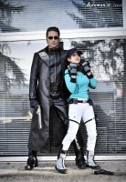 Wesker  and Jill BSAA Resident evil 5 by DavidCosplay