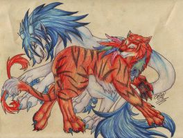 Feather Tiger Meets Lysander by BRW-Doraigaa