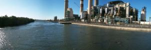 Tampa Power Plant Panorama by Luthienmisery29