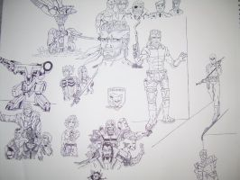 Metal Gear Solid Collage by ROSchwoe