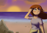 Ellen at the Beach by Eleanorose123