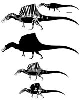 Cenomanian North African spinosaurs by GetAwayTrike
