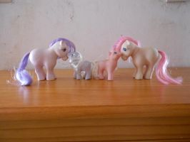 my little pony collection: mother and baby ponies by theladyinred002