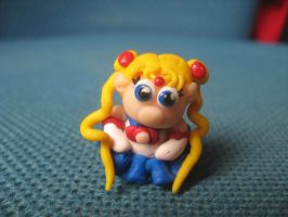 Chibi Sailor Moon in polymer clay by SelloCreations