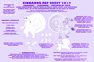 Cinnadog Ref Sheet 2015 (READ DESCRIPTION) by cinnabutt