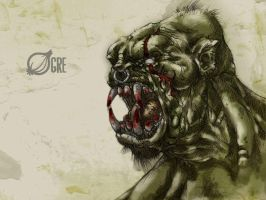 #31DaysOfMonsters Day 23: Ogre by franciscomoxi