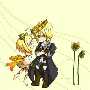 Edna and Eizen - Casual Royalty by Bcpupu
