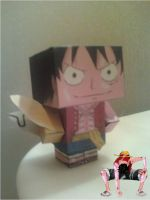 Monkey D. Luffy (Gear Second) Cubee Finished by rubenimus21