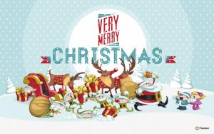 Free Christmas Wallpaper Widescreen by Pixeden