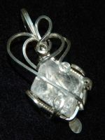 Quartz diamond in silver by DPBJewelry