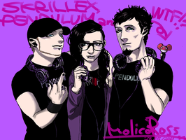 SKRILLEX, PENDULUM and WTF by molicoross