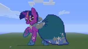 MLP Twilight Sparkle (gala dress) in Minecraft by o0rolyat0o
