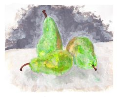 Green Pears by caitiedidd