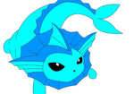 Vaporeon by QueenBrittStalin